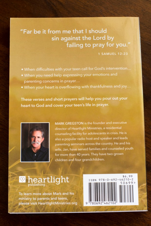 Prayers for my Teen Revised book back