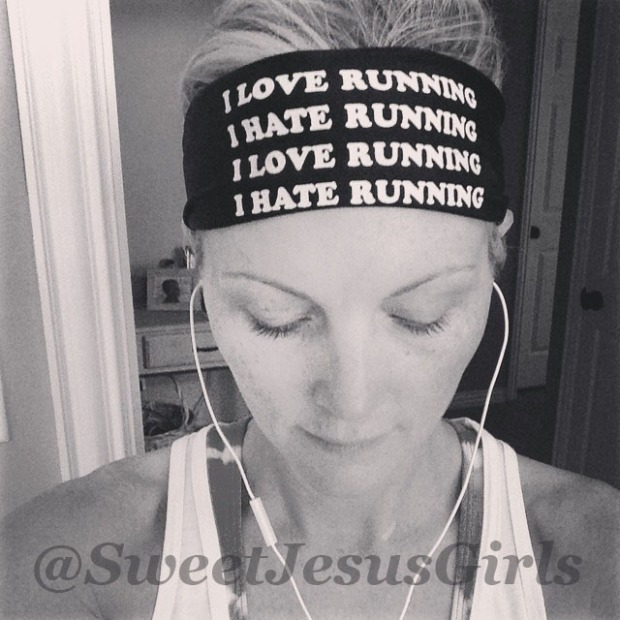 love running hat running